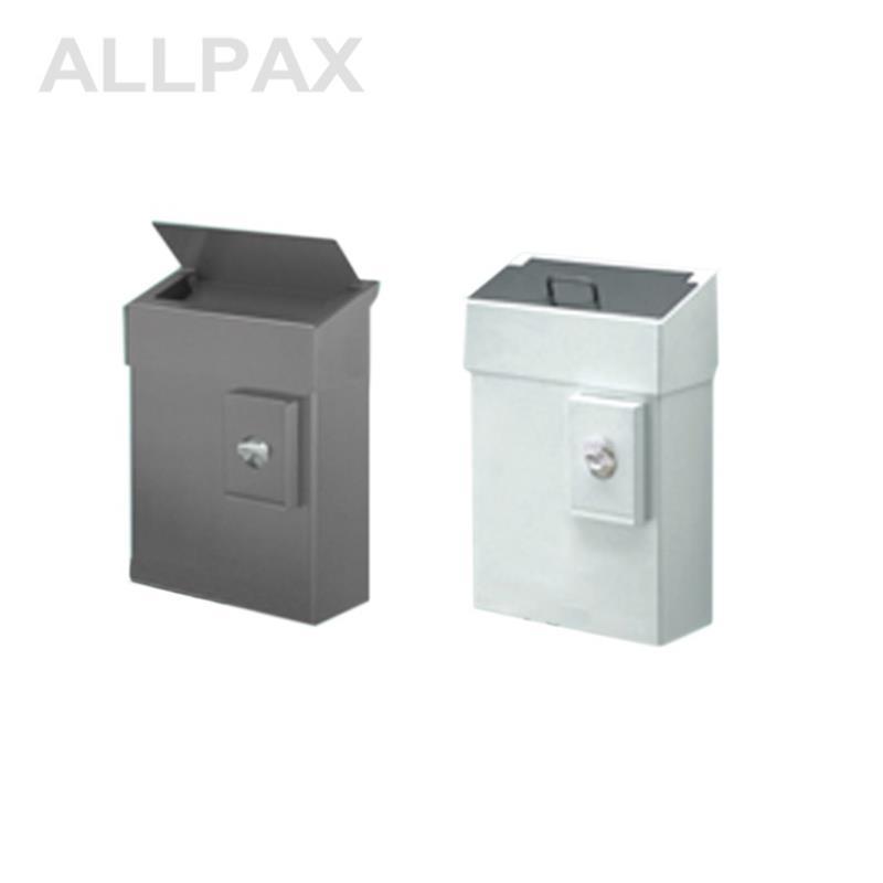 Abfallbehälter mit Schleusenklappe, 10 Liter