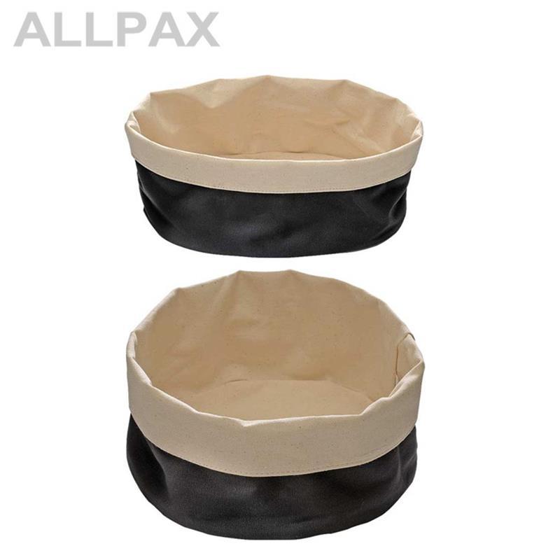 Brottasche beige-schwarz