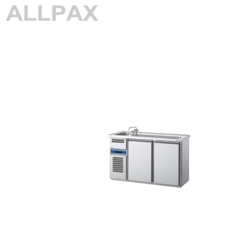 Getränkekühltheken, 1 Becken rechts, 1550 mm Länge