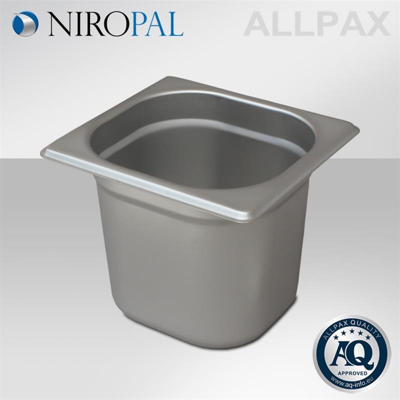 GN Behälter 1/6 Edelstahl, Höhe 150 mm