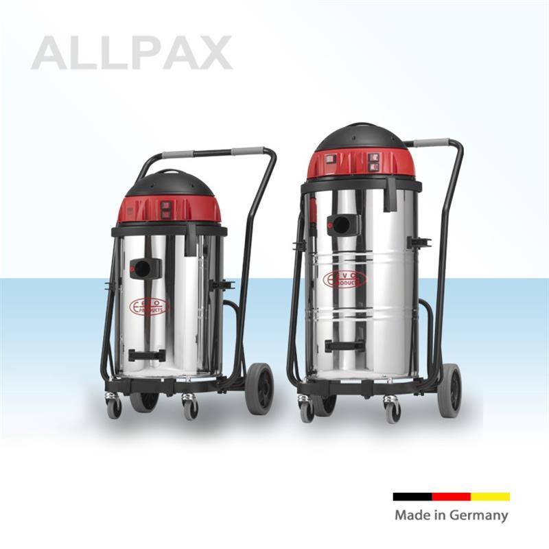 3-Motoriger Nass- und Trockensauger, 50 oder 73 ltr. V2A Behälter