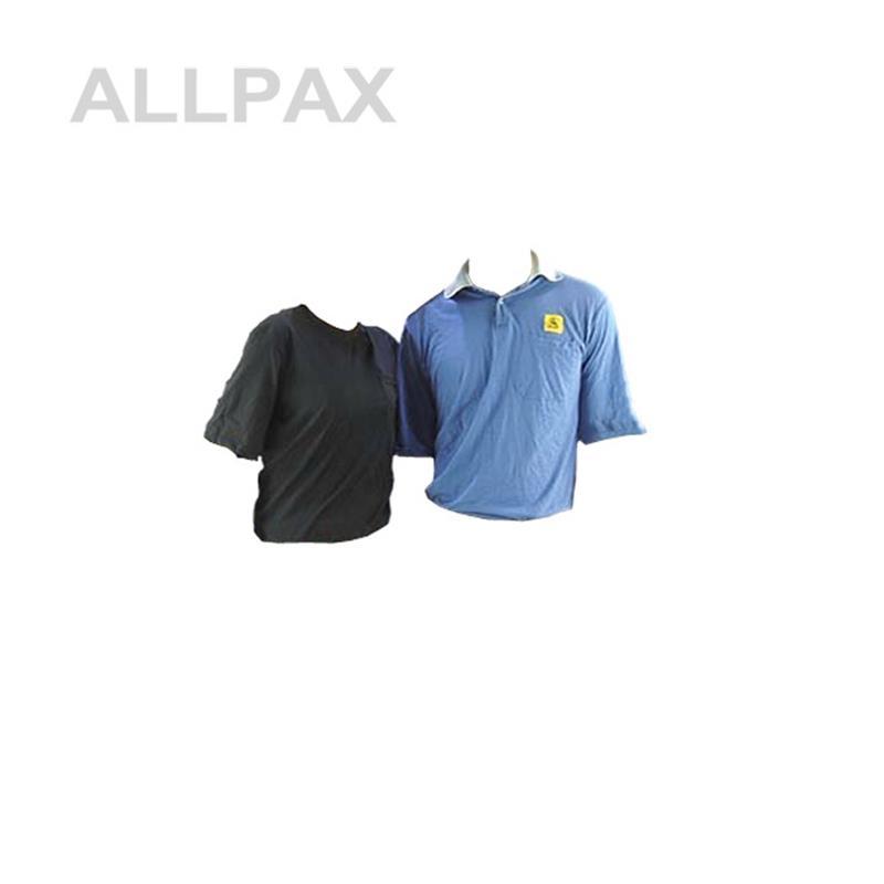 ESD Polo Shirt Gr. L- Schwarz V-Ausschnitt