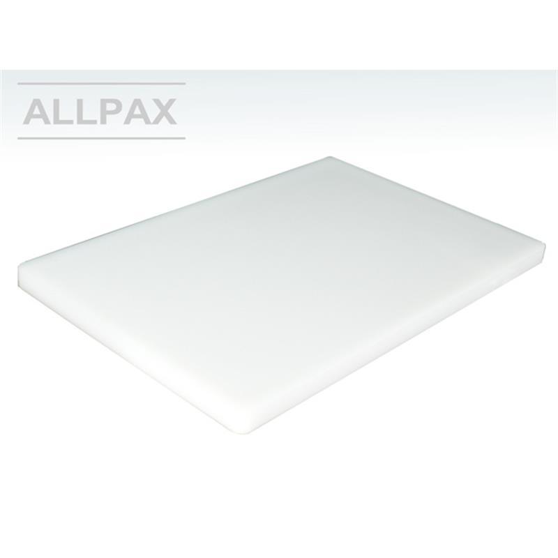 Schneidbrett Polyethylen weiß mit Gummifüßen