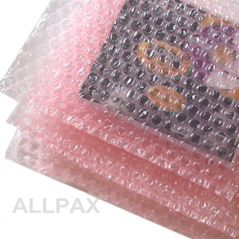 Luftpolsterbeutel 100 x 150 mm Lasche u. Verschlussklebestreifen