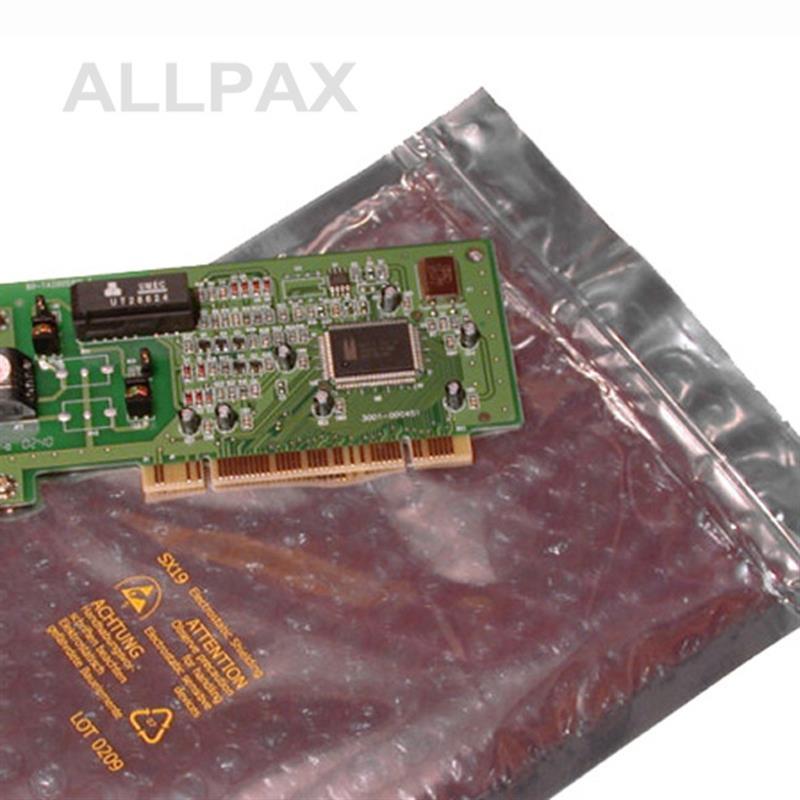 Metallisierte Luftpolsterbeutel 102 x 102 mm mit Zipp
