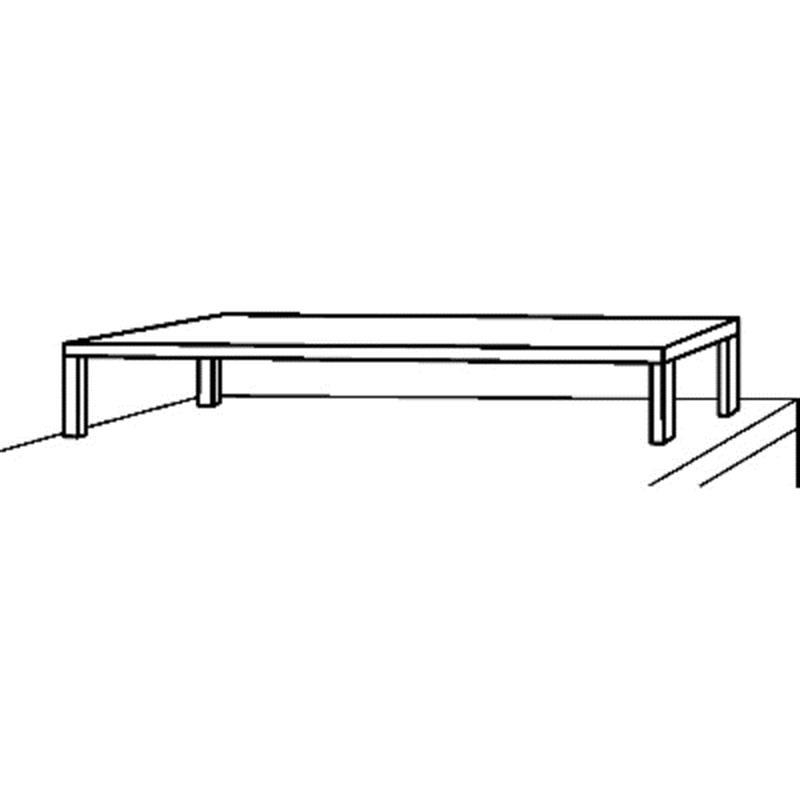Aufsatzbord mit 1 Etage Tiefe 400 mm