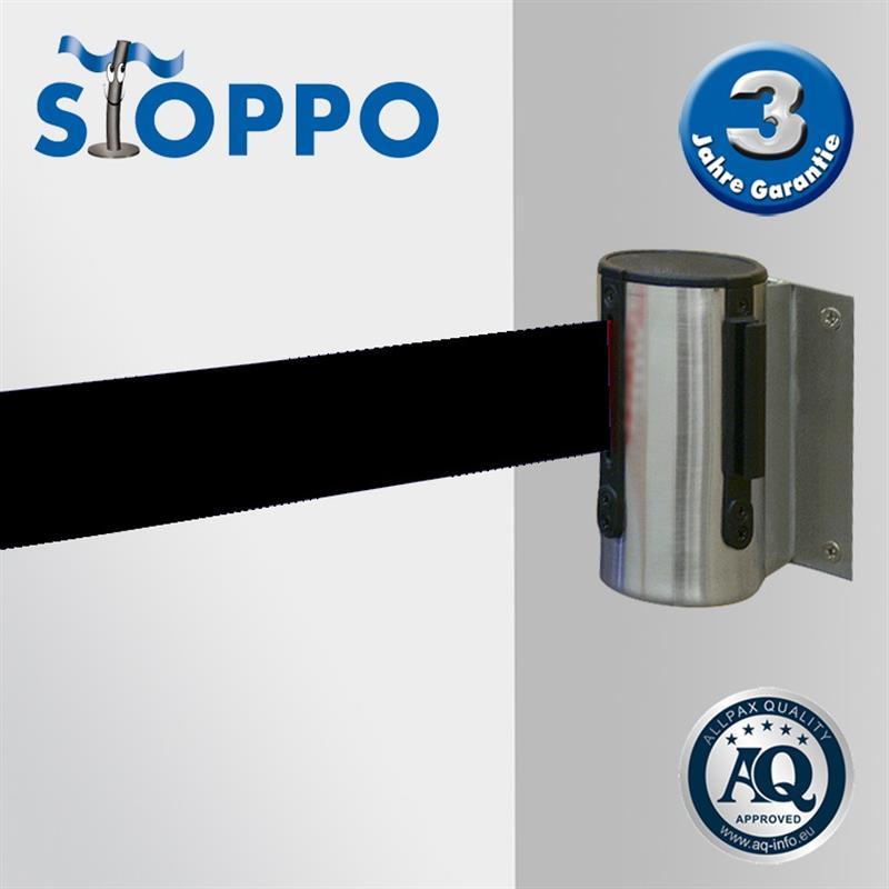 STOPPO Abgrenzungsband zur Wandmontage - SCHWARZ