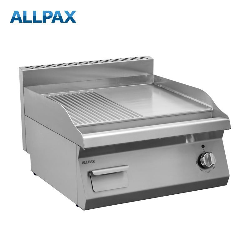 Elektro Grillplatte ALLPAX 606-E, 1/2 gerillt