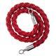 Afzetkoord van gedraaid touw, rood