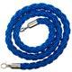 Afzetkoord van gedraaid touw, blauw - 200 cm