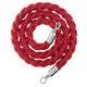 Afzetkoord van gedraaid touw, rood - 200 cm