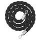 Afzetkoord van gedraaid touw, zwart - 200 cm
