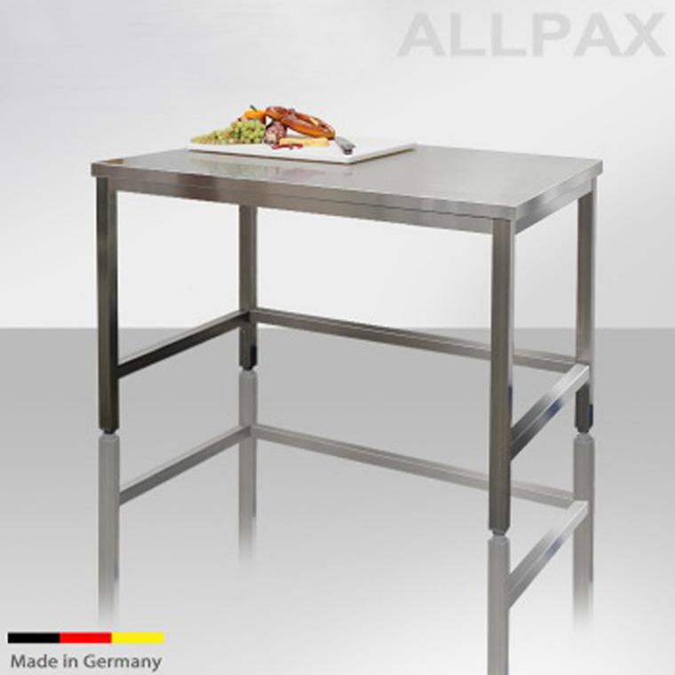 arbeitstische edelstahl 800 mm tiefe ohne grundboden unterfahrbar. Black Bedroom Furniture Sets. Home Design Ideas